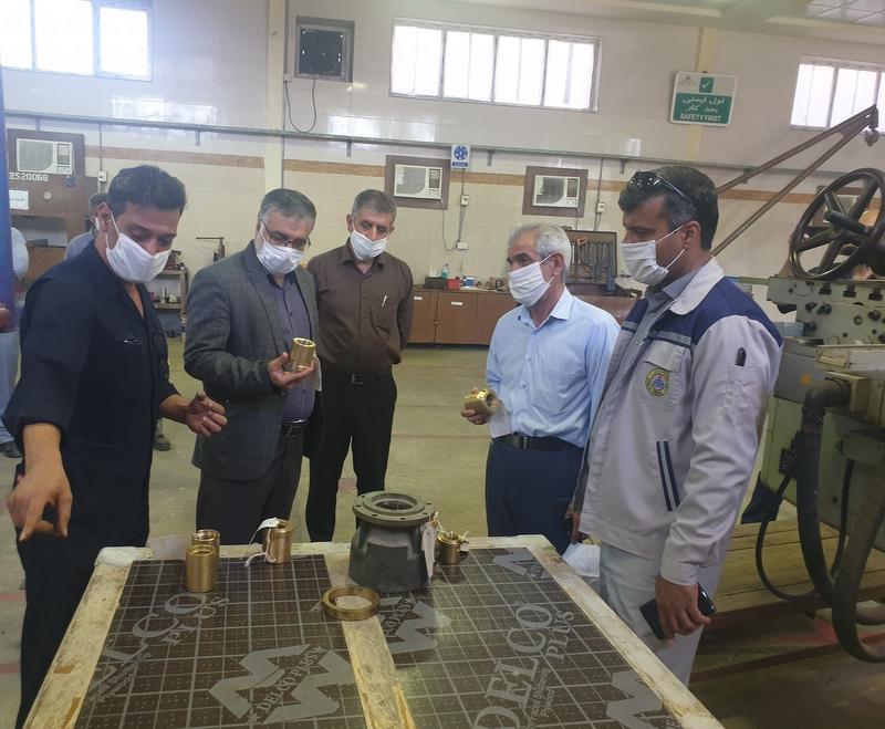 بازدید مدیرعامل از تعمیرات صنعتی  1